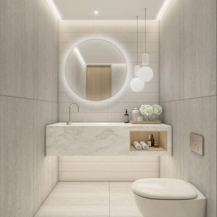 Balmoral Powderroom Stone option