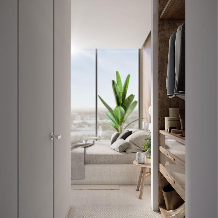 Sydney CBD Apartment bedroom wardrobe