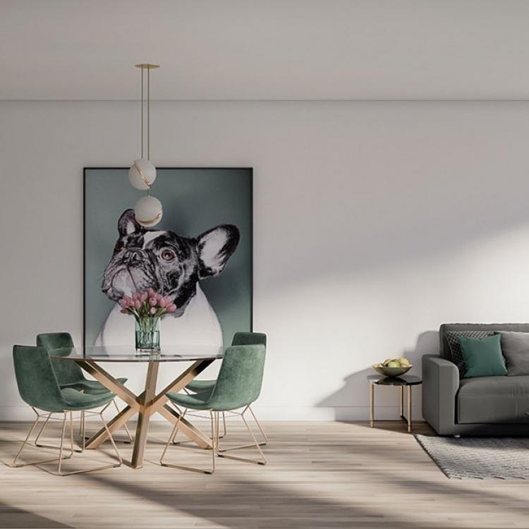 Sydney CBD Apartment - Sectionnal living Kitchen
